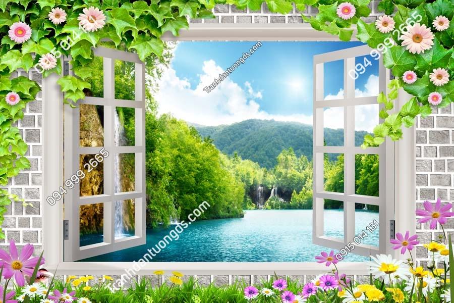 Tranh dán tường cửa sổ_CS184