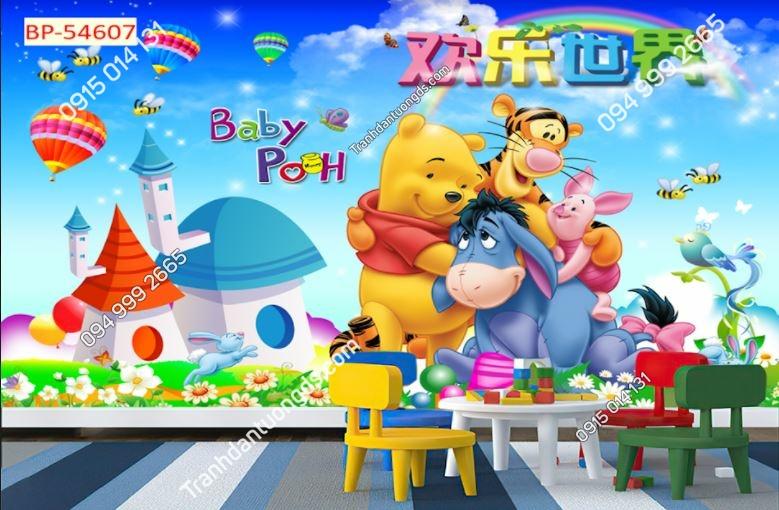 Tranh dán tường hoạt hình gấu Pooh 54607