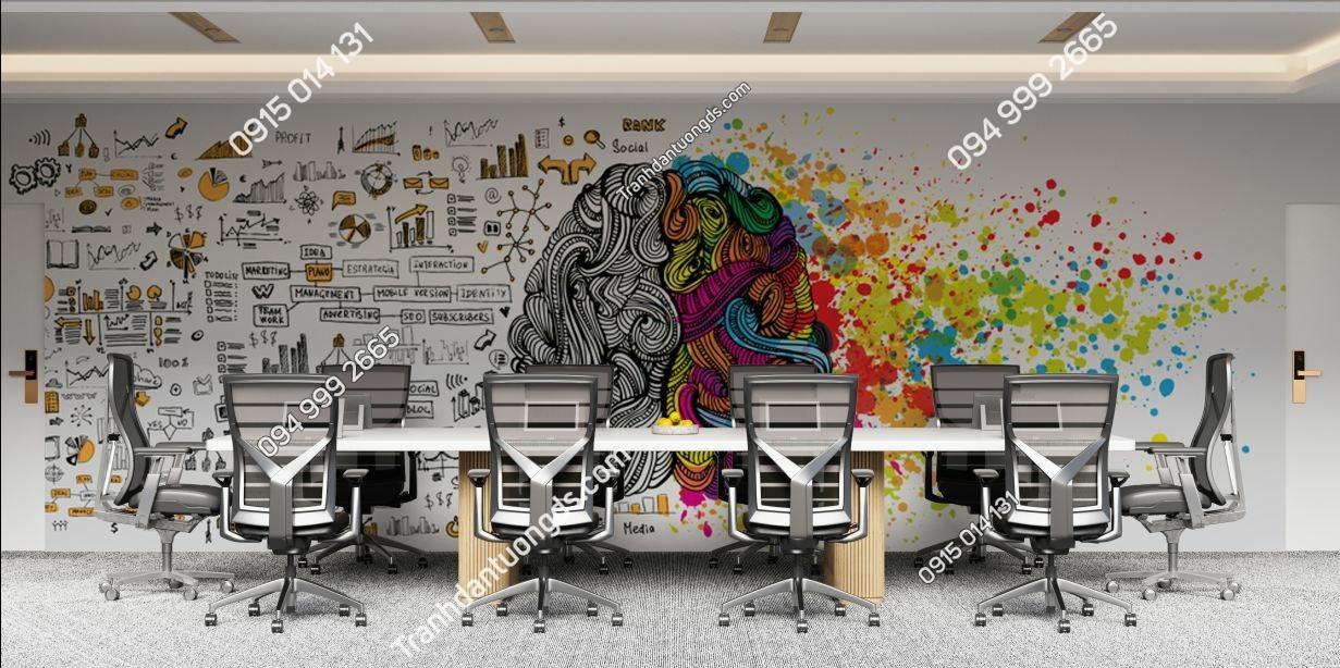 Tranh dán tường văn phòng làm việc 679602922