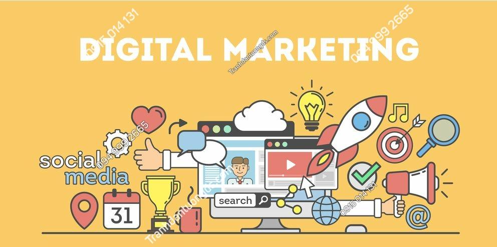 Tranh digital marketing văn phòng 551967580