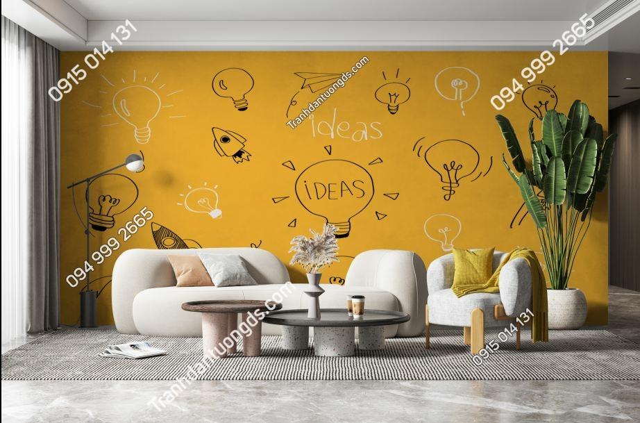 Tranh ideal tông vàng dán tường sảnh chờ 1324372637