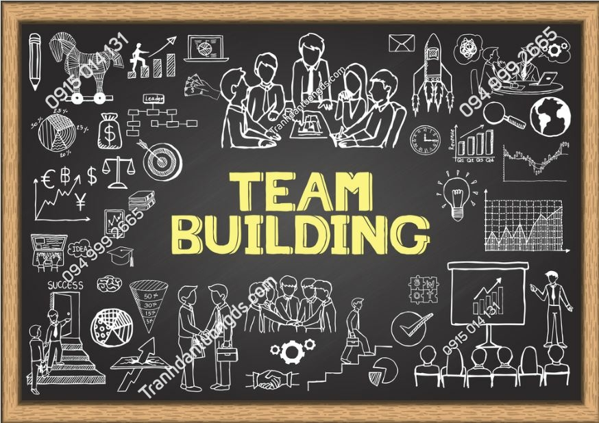 Tranh team building dán văn phòng 280070999