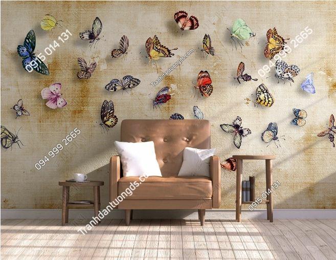 Tranh tường bướm nhẹ nhàng weili_17474306