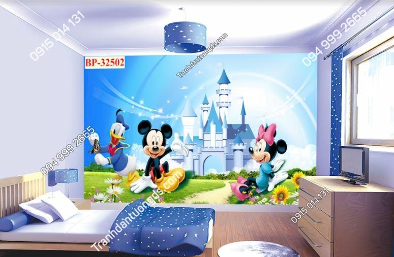Tranh tường chuột micky dán phòng bé 32502