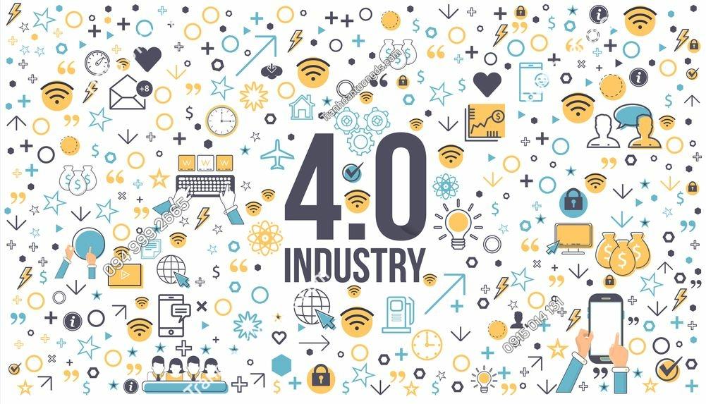 Tranh tường công nghệ 4.0 infographics 619539197