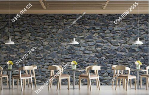 Tranh tường đá xanh xám dán quán ăn 770470435