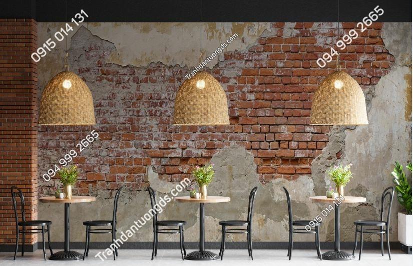 Tranh tường gạch cổ vôi vữa loang 519795955