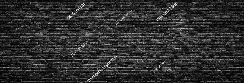 Tranh tường gạch đen đậm 1419302051