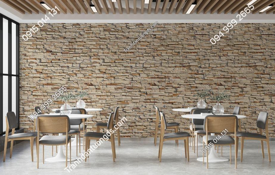 Tranh tường giả đá quán cafe 564728614