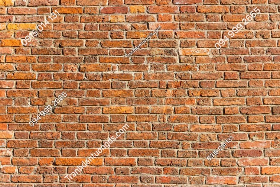 Tranh tường giả gạch cam cổ 1938746074