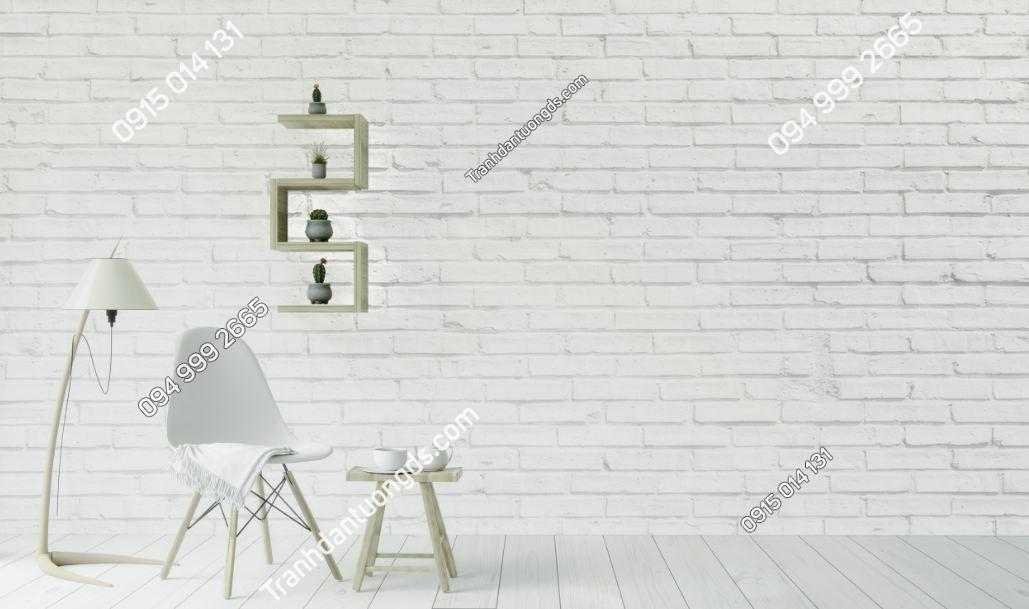 Tranh tường giả gạch trắng 140356522