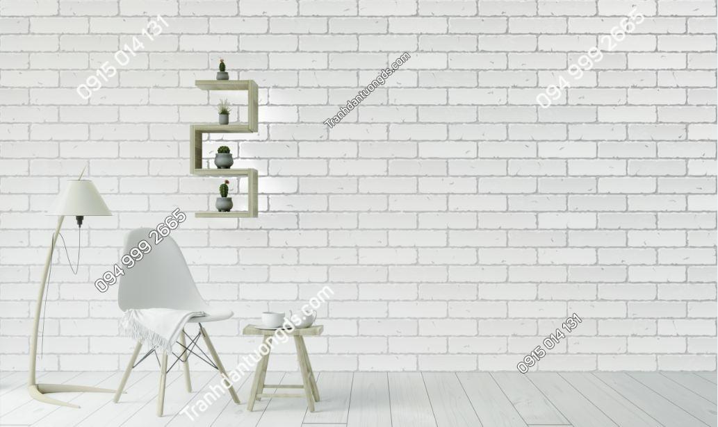 Tranh tường giả gạch trắng 675286174