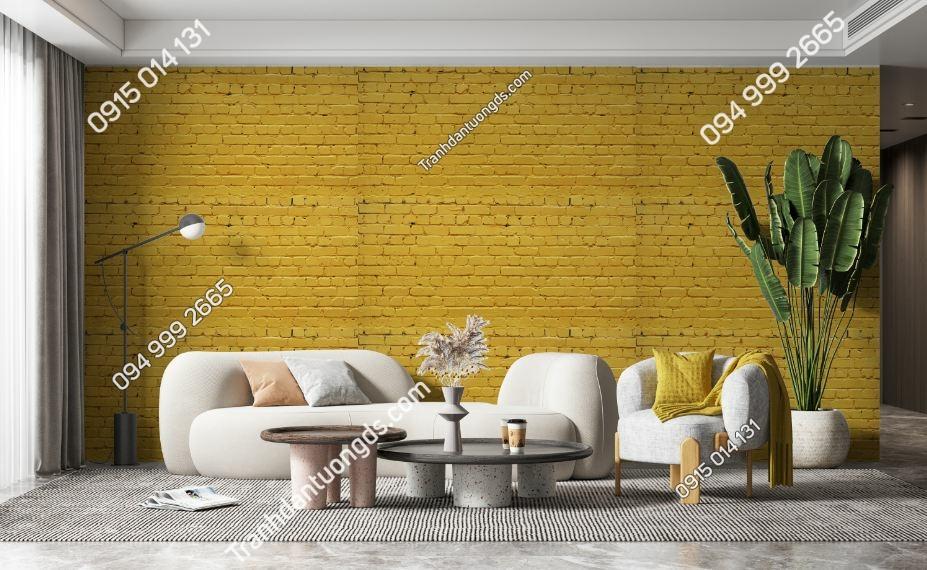 Tranh tường giả gạch vàng 500456545
