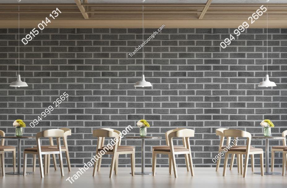 Tranh tường giả gạch xám nhà hàng quán ăn 1221643711