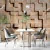 Tranh tường giả khối gỗ vuông 3D 1374089267