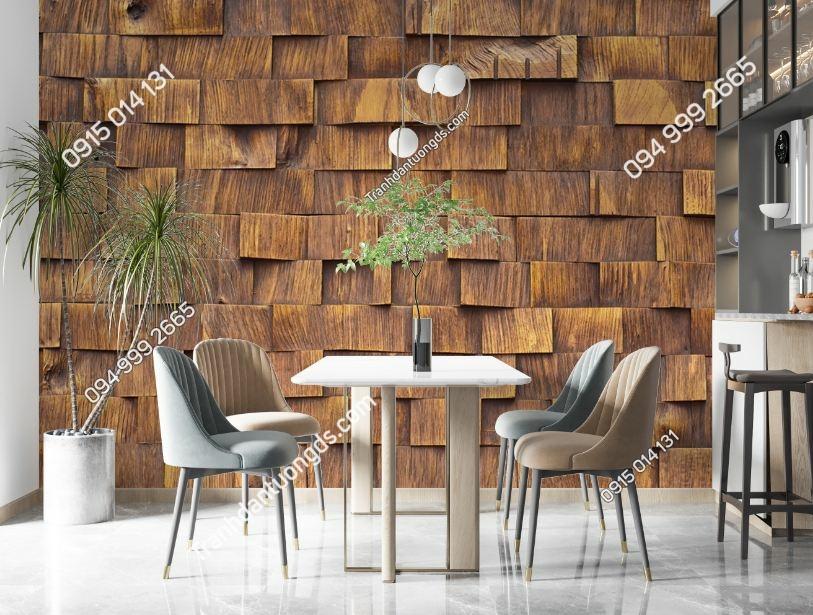 Tranh tường giả khối gỗ xếp lớp 3D 1479198731