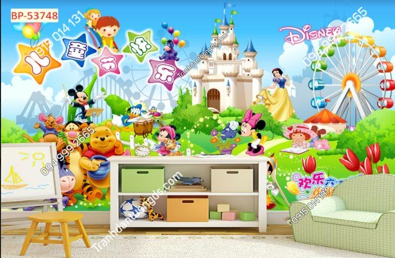 Tranh tường hoạt hình gấu Pooh dán phòng bé 53748
