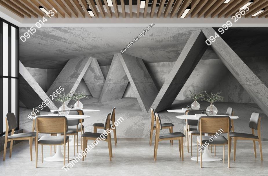 TRanh tường khối tam giác xi măng 603943772