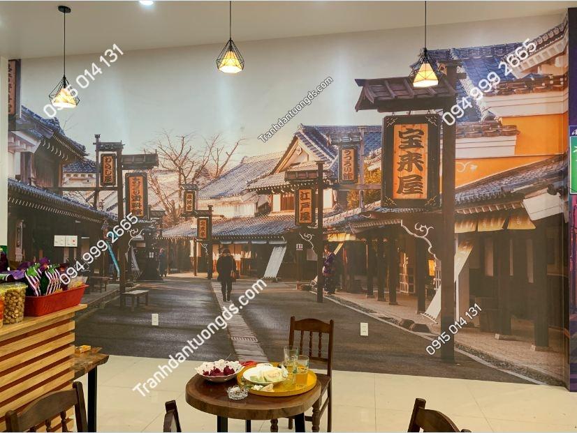 Tranh dán tường hongkong quán trà chanh ảnh 2