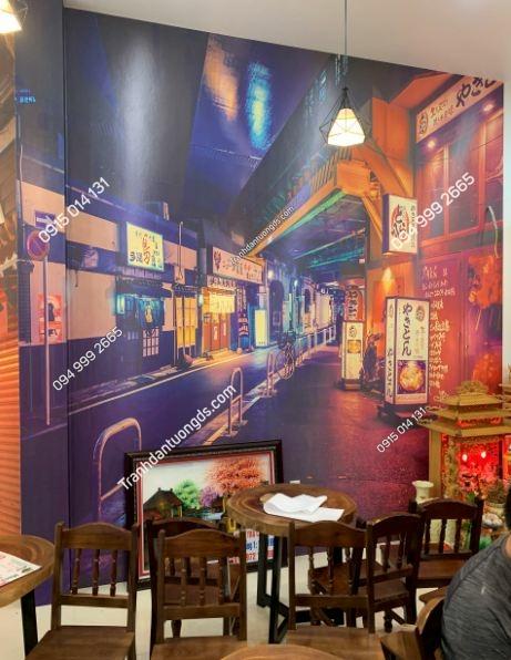 Tranh dán tường hongkong quán trà chanh ảnh 3