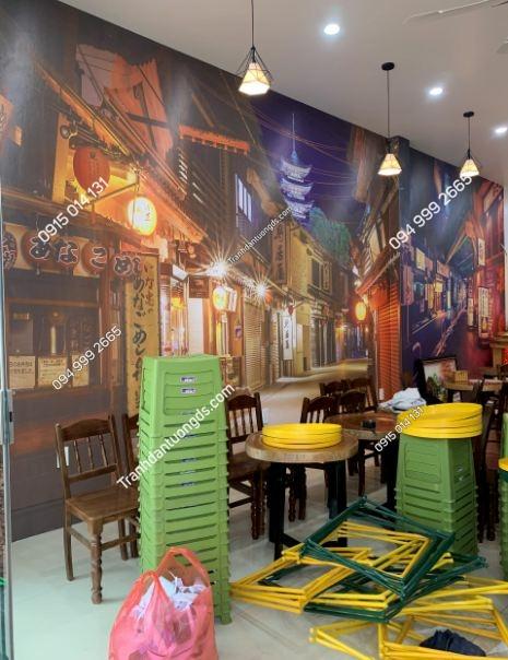 Tranh dán tường hongkong quán trà chanh ảnh 4