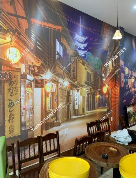 Tranh dán tường hongkong quán trà chanh ảnh 6