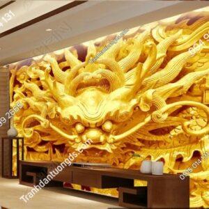 Tranh đầu rồng vàng weili_11828774