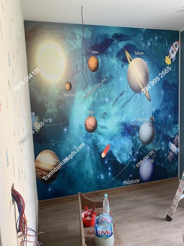 Tranh galaxy 3D cho bé