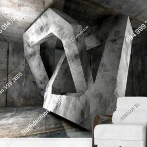 Tranh móc giả bê tông 3D weili_23465401