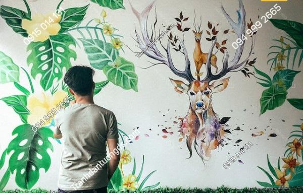 Vẽ tranh tường cũng rất đẹp